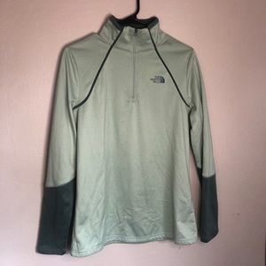 Two Tone Green North Face Jacket